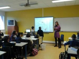 Un cours d'anglais au collège de Garlin
