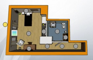Un des 20 logements du foyer